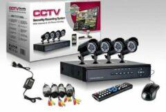 Zwarte Famoshop.nl CCTV FaMo camerasysteem beveilingssysteem 8 Camera's + DVR ook voor internet en telefoon