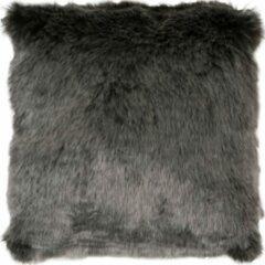 Antraciet-grijze Veercarpets Kussen Donsie - Antraciet - 45 x 45 cm - Fluffy - Grijs - Zacht