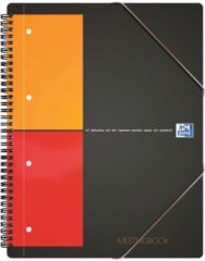 Oxford International A5+ Collegeblok Kleurenassortiment Polypropylene kaft Geruit 80 Vellen