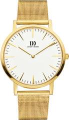 Gouden Danish Design watches unisexhorloge London White Gold Large Mesh IQ05Q1235