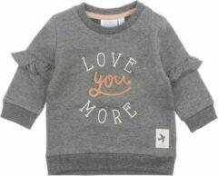 Antraciet-grijze Feetje Sweater Little and Loved Antraciet Melange MT. 62