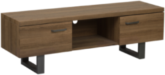 Beliani TIMBER - TV-meubel - Donkere houtkleur - MDF