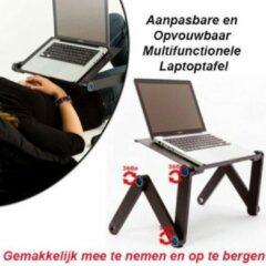Zwarte Déluxa Aanpasbare en Opvouwbaar Multifunctionele Laptoptafel