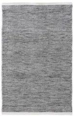 MOMO Rugs - Teppe Black White Vloerkleed - 160x230 cm - Rechthoekig - Laagpolig, Structuur Tapijt - Industrieel, Landelijk, Scandinavisch - Zwart wit