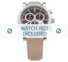 Burberry horlogeband BU7105 Leder Beige + standaard stiksel