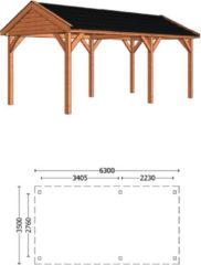 Trendhout | Buitenverblijf Zadeldak Betula L 6300 mm | Combinatie 4