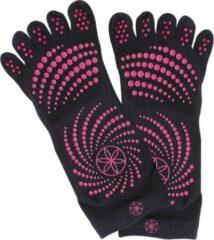 Gaiam Antislip Sportsokken Dames - Zwart / Roze - Maat 35-40
