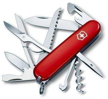 Afbeelding van Rode Victorinox Zakmes swissarmy huntsman rood 15 functies