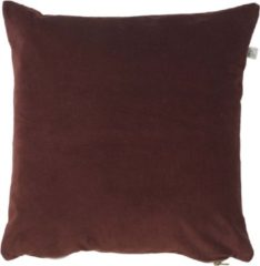 Gouden Dutch Decor Kussenhoes Kolon 45x45 cm bordeaux/mahonie