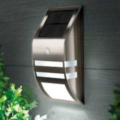 Meco Stainless Steel Waterproof PIR Motion Sensor LED Solar Light Garden Yard Outdoor Wall Lamp Pathway