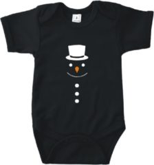 Babybugz Baby rompertje Sneeuwpop (met hoed) | Korte mouw 74/80 zwart