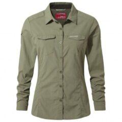 Craghoppers - Women's Nosilife Adventure L/S Shirt - Blouse maat 8 grijs/olijfgroen