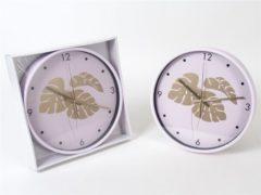 Trendy Klok Pinky Gold Palmblad 30cm – Roze – Gouden wijzerplaten – Meisjes – Pinky - Palmblad – Decoratie – Klokken