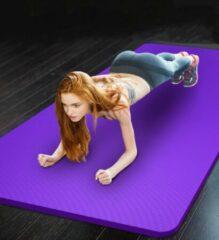 Pro-care Yoga/Fitnessmat - Met Anti Slip Profiel - 183x61x1cm - Met Draagriem en Draagtas - Paars