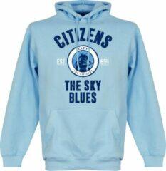 Lichtblauwe Merkloos / Sans marque Manchester City Established Hooded Sweater - Wit - XL