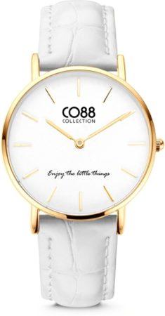 Afbeelding van CO88 Collection Watches 8CW 10080 Horloge - Leren Band - Ø 32 mm - Goudkleurig