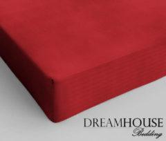 Dreamhouse Bedding katoen hoeslaken - 100% katoen - Lits-jumeaux (180x200 cm) - Rood