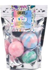 Blauwe Create It! bruisballen meisjes 4 cm 3 stuks