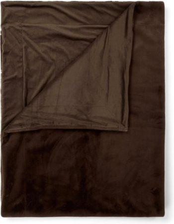 Afbeelding van Donkerbruine Essenza Furry plaid van imitatiebont 150 x 200 cm