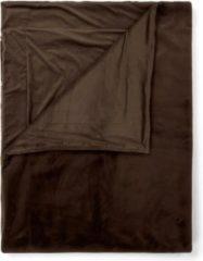 Donkerbruine Essenza Furry plaid van imitatiebont 150 x 200 cm