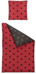 Biber Wendebettwäsche Dublin Sterne rot 8658-60 Irisette rot