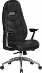 Amstyle Amstyle Bürostuhl BARI Echt-Leder Schwarz Schreibtischstuhl mit Armlehne Chefsessel Synchronmechanik Drehstuhl Kopfstü