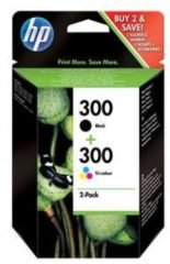 HP Cartuccia originale 300 confezione da 2 cartucce nero/tricolore CN637EE