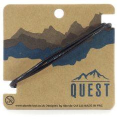 Quest Leren Armband 2 Band Zwart Q8