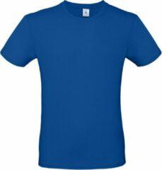 Bc Blauw basic t-shirt met ronde hals voor heren - katoen - 145 grams - witte shirts / kleding 2XL (56)