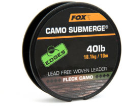 Fox Edges Submerge Camouflage Lead Free Woven Leader - 40lb - 10m - Camouflage