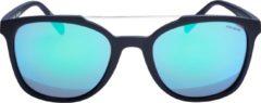 ICON Sport Zonnebril SHAKER - Zwart montuur met rubber finish - Blauw spiegelende glazen - GEPOLARISEERD
