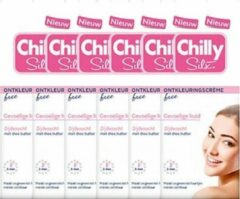 6x75ml Chilly Silx Ontkleuringscreme Face Gevoelige Huid Voordeelverpakking