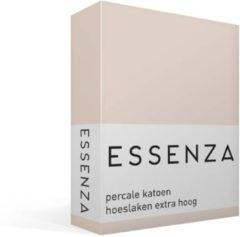 Roze Essenza Premium - Percale Katoen - Hoeslaken - Extra Hoog - Lits-jumeaux - 160x200 cm - Rose