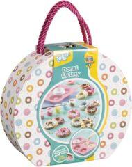 Totum Donut Factory - Gift en knutselset donuts gieten van gips en versieren in luxe cadeauverpakking - knustselset
