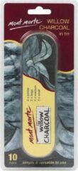 Zwarte Mont Marte 10 delige wilg houtskool set in blik S/M/L/Jumbo