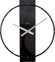 NeXtime Carl - Klok - Stil Uurwerk - Hout/Metaal - Rechthoekig - 58,2 cm - Zwart
