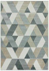 Eazy Living Easy Living - Sketch-Rhombus-Grey Vloerkleed - 160x230 cm - Rechthoekig - Laagpolig Tapijt - Retro - Grijs, Taupe