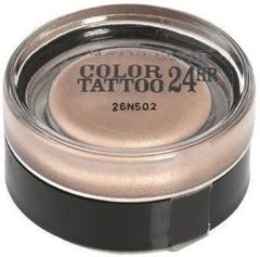 Huidskleurige Maybelline Eye Studio Color Tattoo 24H - 101 Breathless - oogschaduw Naakt Shimmer