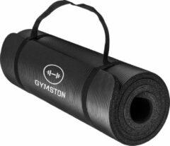 Gymston Fitnessmat Inclusief draagtas en extra draagriem - 183 cm x 61 cm x 1.5 cm - Zwart