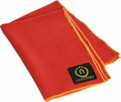 Natural fitness Yoga mat handdoek rood/geel