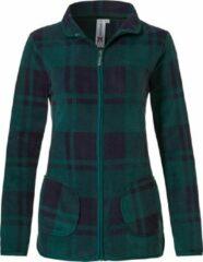 Blauwe Rebelle Mix & match polar fleece jacket 'sporty checks'