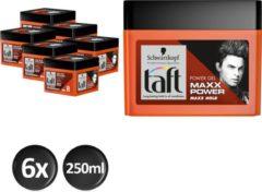 Schwarzkopf Taft MAXX Power Haargel Cubus 250 ml - 6 stuks - Voordeelverpakking