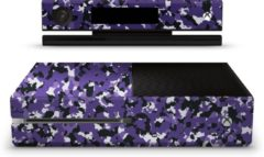 Ucustom Xbox One Console Skin Camouflage Paars