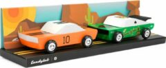 Groene Candylab Toys Candylab - Houten Design Speelgoedauto - Mini Race Set