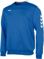 Blauwe Hummel Valencia Top Round Neck Sporttrui Heren - Royal-White