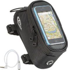 TecTake - Frametas fietstas voor o.a. smartphone e.d. zwart S 401613