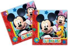 Rode Disney Servetten Mickey Mouse 33 X 33 cm 20 Stuks