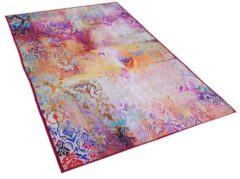 Beliani ISPARTA Vloerkleed Meerkleurig Polyester 80 x 150 cm