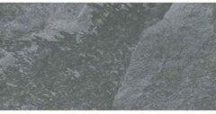 Antraciet-grijze Cerpa Ceramica Cerpa Cerámica Vloer- en wandtegel Ardesia Antraciet 29x58,5 cm Gerectificeerd Natuursteen look Mat antraciet SW07310666-2