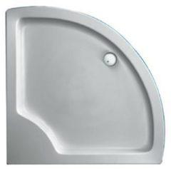 Plieger Luxury kunststof douchebak acryl kwartrond radius 55 90x90x18.5cm wit 110020 0940992